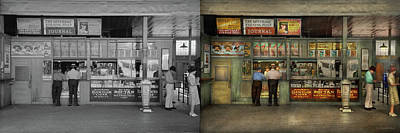 Photograph - City - Oklahoma Ok - A Magazine For The Ride Home 1939 - Side By Side by Mike Savad