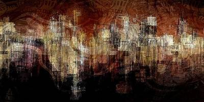 Digital Art - City On The Edge by David Manlove