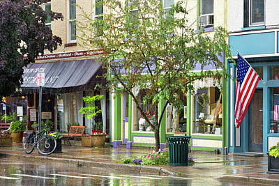 Photograph - City - Owego Ny - On A Rainy Day by Mike Savad