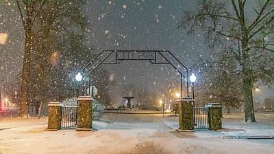 Winter Animals - CIty park Entrance by Jonny D