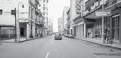 City Street, Havana Art Print