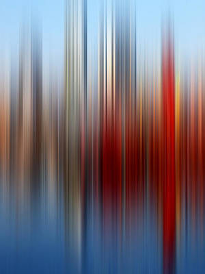 Photograph - City Waterfront Abstract by Gill Billington