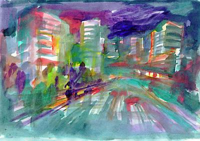 Painting - Cityscape 3 by Irina Dobrotsvet