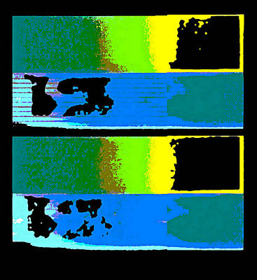 Digital Art - Cityscaper 4000 Original Fine Art Painting Digital Abstract Triptych by G Linsenmayer