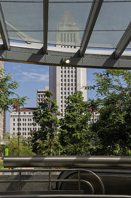 Wall Art - Photograph - Civic Center Metro Station Los Angeles by Roslyn Wilkins