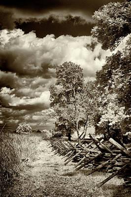 Photograph - Civil War Battle Line Fence by Paul W Faust - Impressions of Light