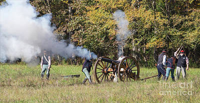 Photograph - Civil War Cannon Fire by Kevin McCarthy