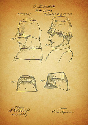 Politicians Drawings - Civil War Military Hat by Dan Sproul