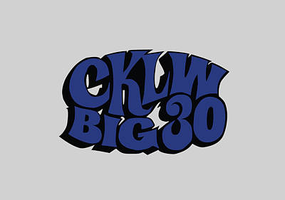 Digital Art - Cklw Big 30 - Blue by Big 8 Radio