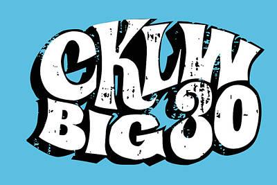 Digital Art - Cklw Big30 - White Grunge by Big 8 Radio