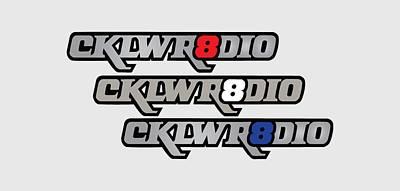 Digital Art - Cklw Mid70 Logo Red White Blue by Big 8 Radio
