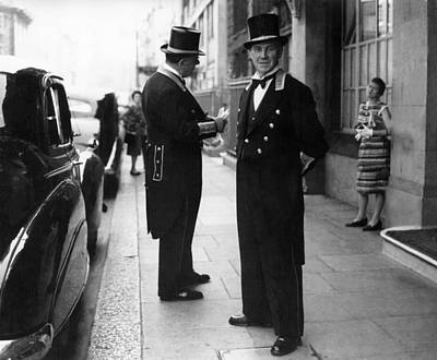 Photograph - Claridges Doormen by Hulton Collection