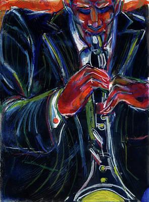 Clarinet Wall Art - Painting - Clarinet By Gil Mayers, Mixed Media by Gilbert Mayers
