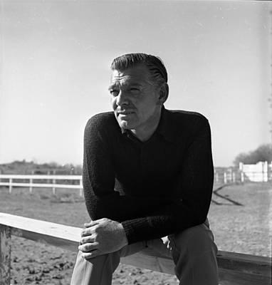 Photograph - Clark Gable by Bob Landry