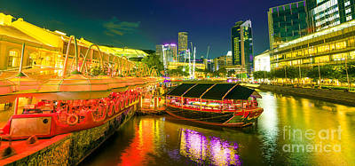Photograph - Clarke Quay Night by Benny Marty