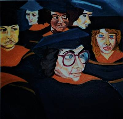 Painting - Class Of 86 by Delorys Tyson