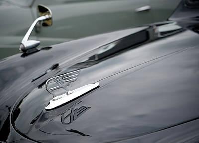 Photograph - Classic Austin Car Bonnet Badge by Helen Northcott