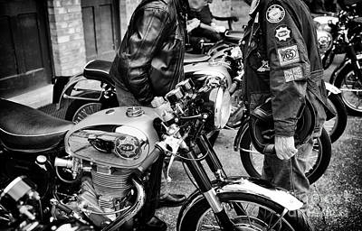 Photograph - Classic Bsa Goldstars Monochrome by Tim Gainey