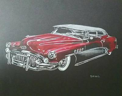 Buick Drawing - Classic Buick by Daniel King