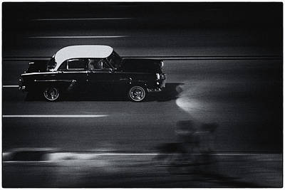 Photograph - Classic Car On Malecon 10 by Jeff Lucas