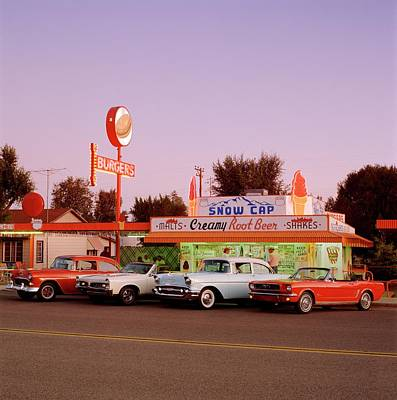 Photograph - Classic Cars At Delgadillo Snow Cap In by Car Culture