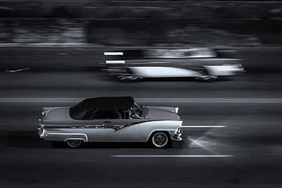 Photograph - Classic Cars On Malecon 8 by Jeff Lucas