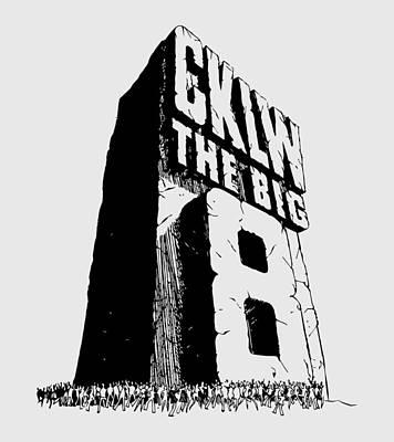 Digital Art - Classic Cklw Logo by Big 8 Radio