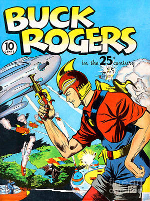 Photograph - Classic Comic Book Cover Buck Rogers First Issue by Wingsdomain Art and Photography