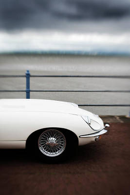 Photograph - Classic E-type Jaguar By The Seaside by James A. Guilliam