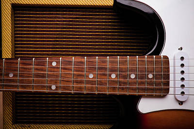 Abstract Photograph - Classic Electric Guitar And Amp Still by Halbergman