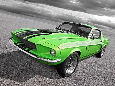 Photograph - Green 1967 Ford Mustang by Gill Billington