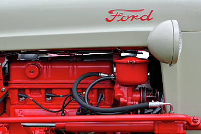 Photograph - Classic Ford Tractor by Luke Moore