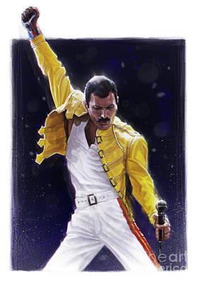 Freddie Mercury Wall Art - Digital Art - Classic Freddie by Andre Koekemoer