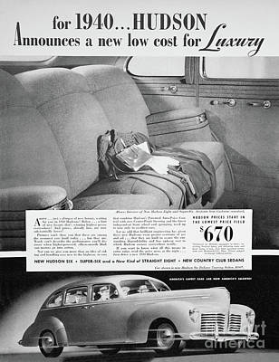Photograph - Classic Hudson Automobile Advertising by Kevin McCarthy