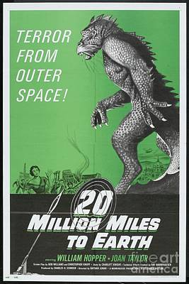 Royalty-Free and Rights-Managed Images - Classic Movie Poster - 20 Million Miles to Earth by Esoterica Art Agency
