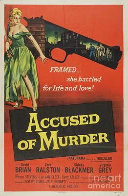 Royalty-Free and Rights-Managed Images - Classic Movie Poster - Accused of Murder by Esoterica Art Agency