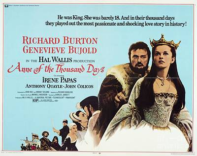 Digital Art Rights Managed Images - Classic Movie Poster - Anne of a Thousand Days Royalty-Free Image by Esoterica Art Agency
