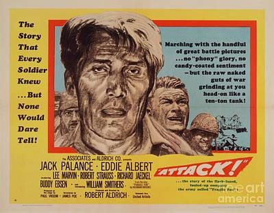 Royalty-Free and Rights-Managed Images - Classic Movie Poster - Attack by Esoterica Art Agency