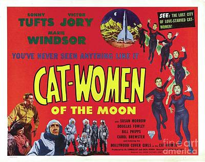 Royalty-Free and Rights-Managed Images - Classic Movie Poster - Cat Women of the Moon by Esoterica Art Agency