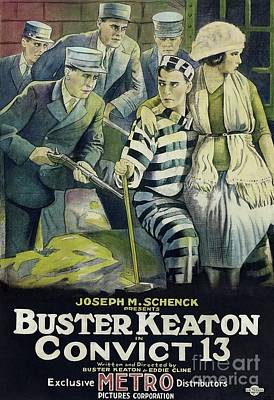 Modern Man Famous Athletes - Classic Movie Poster - Convict 13 Buster Keaton by Esoterica Art Agency