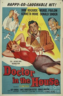 Royalty-Free and Rights-Managed Images - Classic Movie Poster - Doctor in the House by Esoterica Art Agency