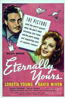 Royalty-Free and Rights-Managed Images - Classic Movie Poster - Eternally Yours by Esoterica Art Agency