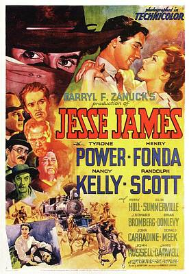 Royalty-Free and Rights-Managed Images - Classic Movie Poster - Jesse James by Esoterica Art Agency