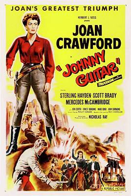 Royalty-Free and Rights-Managed Images - Classic Movie Poster - Johnny Guitar by Esoterica Art Agency
