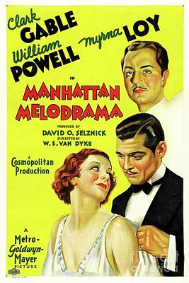 Royalty-Free and Rights-Managed Images - Classic Movie Poster - Manhattan Melodrama by Esoterica Art Agency