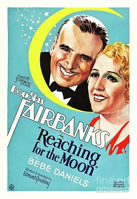 Royalty-Free and Rights-Managed Images - Classic Movie Poster - Reaching For The Moon by Esoterica Art Agency