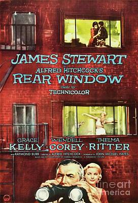Actors Royalty-Free and Rights-Managed Images - Classic Movie Poster - Rear Window by Esoterica Art Agency