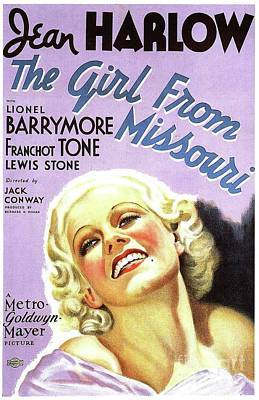 Royalty-Free and Rights-Managed Images - Classic Movie Poster - The Girl From Missouri by Esoterica Art Agency