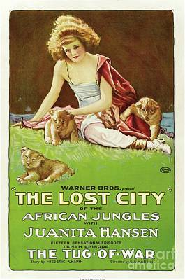 Royalty-Free and Rights-Managed Images - Classic Movie Poster - The Lost City by Esoterica Art Agency