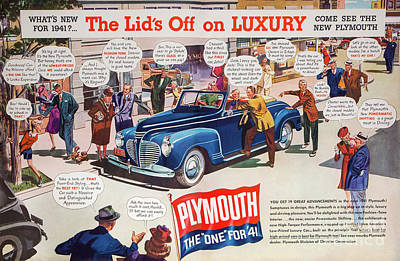 Photograph - Classic Plymouth Auto Advertising by Kevin McCarthy